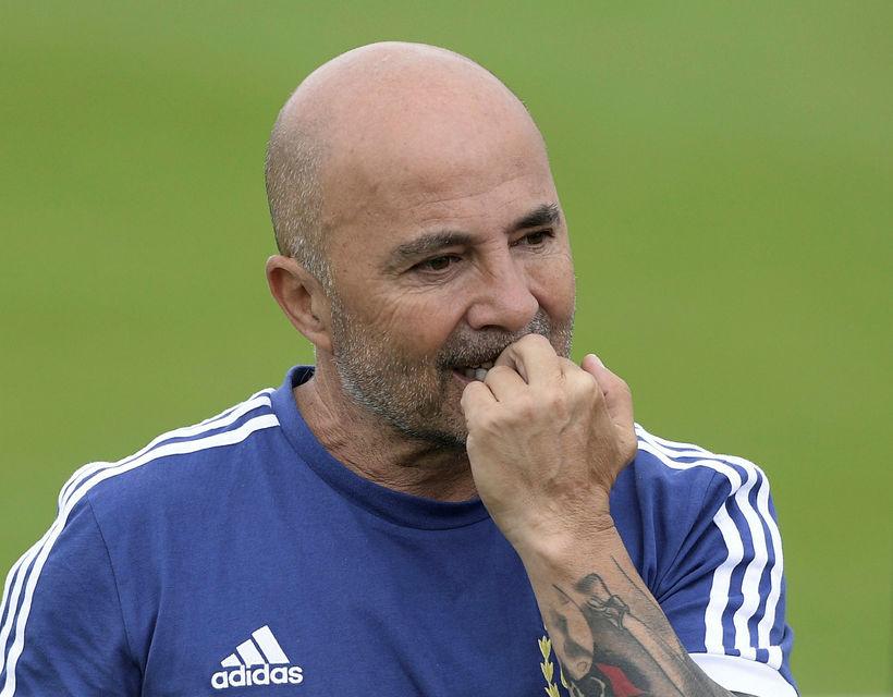 Jorge Sampaoli tók við argentínska landsliðinu fyrir rúmu ári.