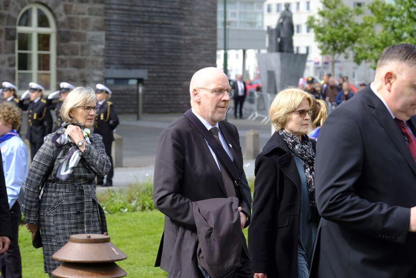 Þjóðhátíð á Austurvelli. 17. júní. Steingrímur J. Sigfússon.