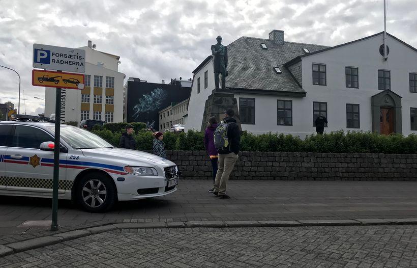 Lögreglan við Stjórnarráðið.