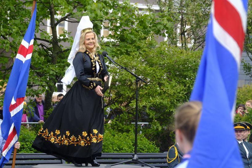 Sigrún Edda Björnsdóttir flutti ræðu.