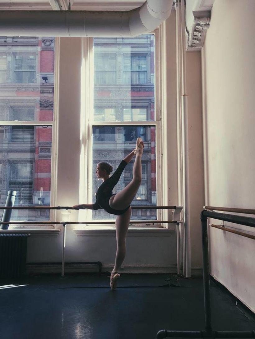 Sesselja á sumarnámskeiði hjá American Ballet Theatre í New York.