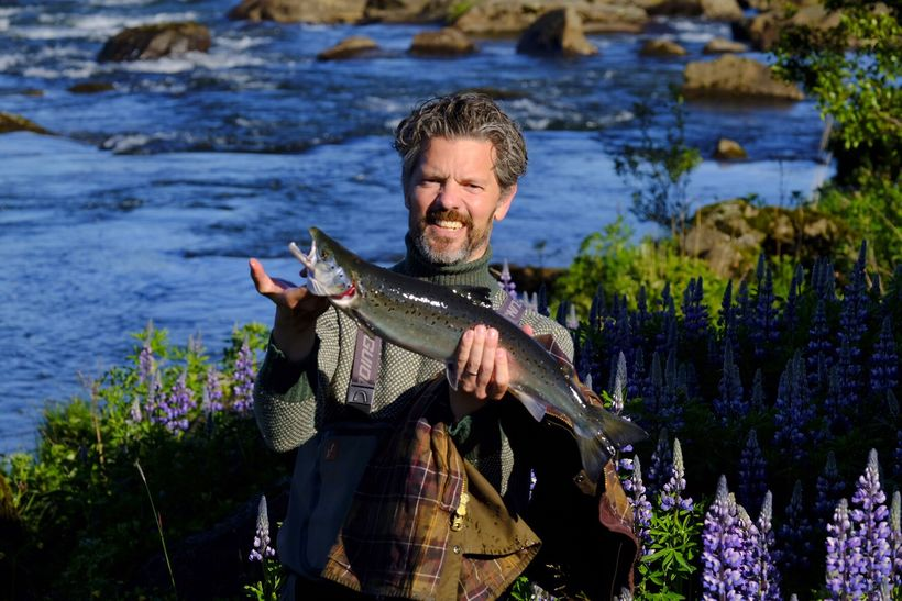Dagur B. Eggertsson borgarstjóri landaði einnig laxi úr Elliðaánum í ...