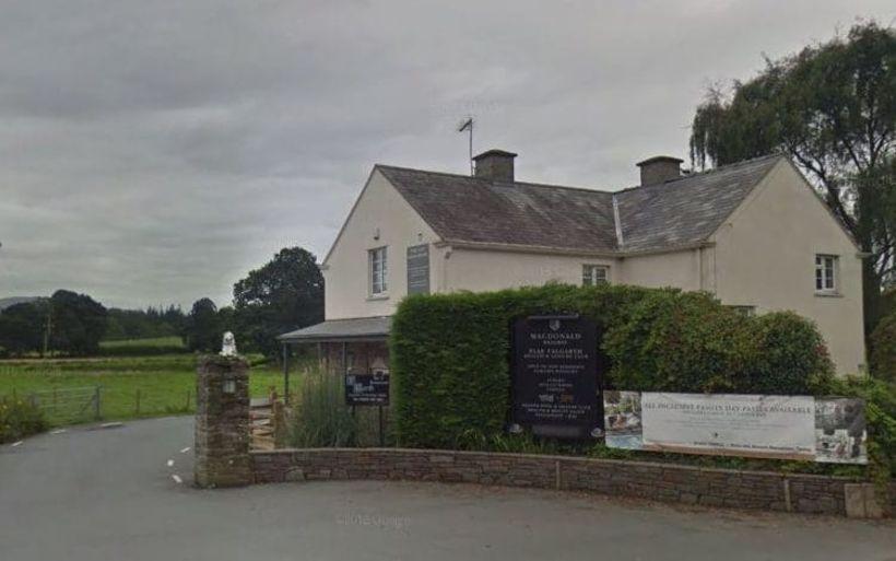 Macdonalds Plas Talgarth-hótelið í Wales.