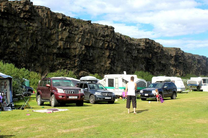 Veðrið virðist einna best á norðausturhluta landsins í dag.