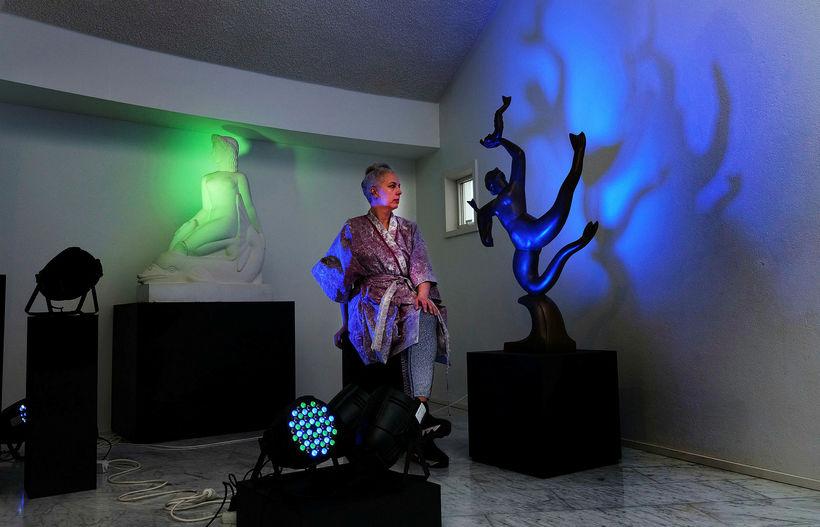 Hrafnhildur Arnardóttir at a recent exhibition of hers at Ásmundarsafn ...