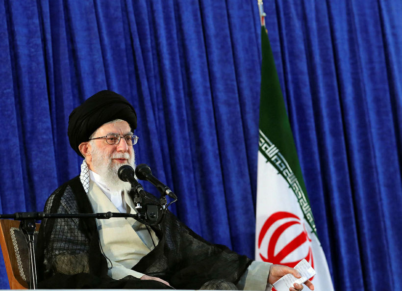 Ayatollah Ali Khamenei, æðsti leiðtogi Íran.