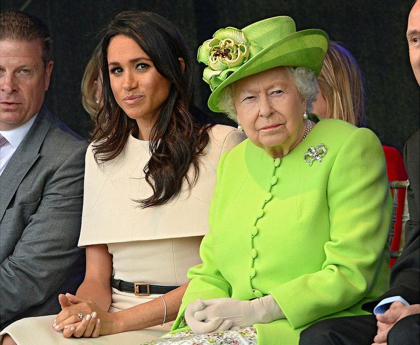 Meghan og drottningin.