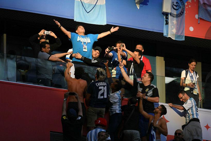 Maradona var áberandi.