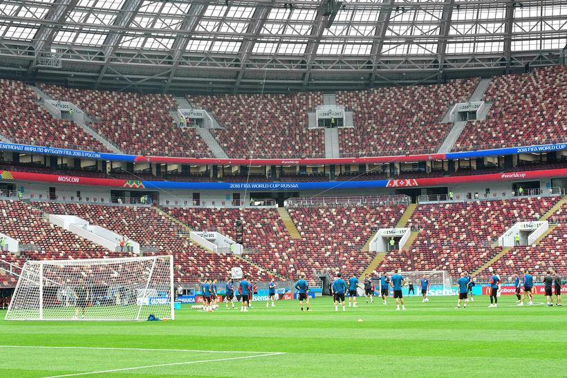 Leikið er á hinum glæsilega Luzhniki Stadium í Moskvu í ...