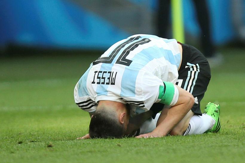 Lionel Messi hefur lokið keppni á HM.