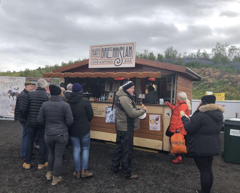 Kaffi er vinsælt á svæðinu í dag en nokkuð svalt ...