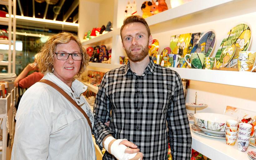 Kristín Hálfdánardóttir og Davíð Gunnarsson.