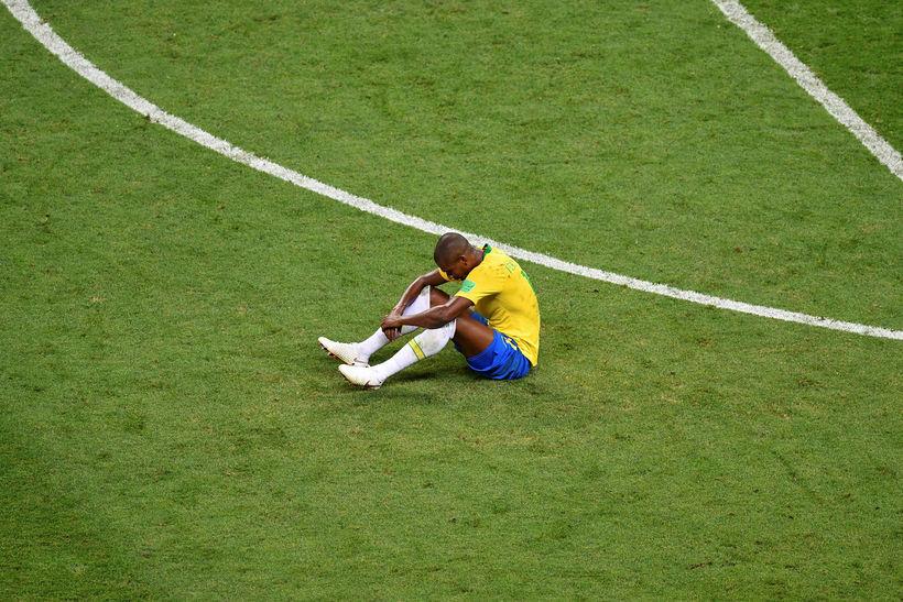 Fernandinho í leikslok í gær.