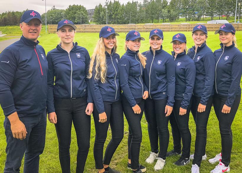 Frá vinstri: Björgvin Sigurbergsson, Anna Sólveig Smáradóttir (GK), Saga Traustadóttir ...