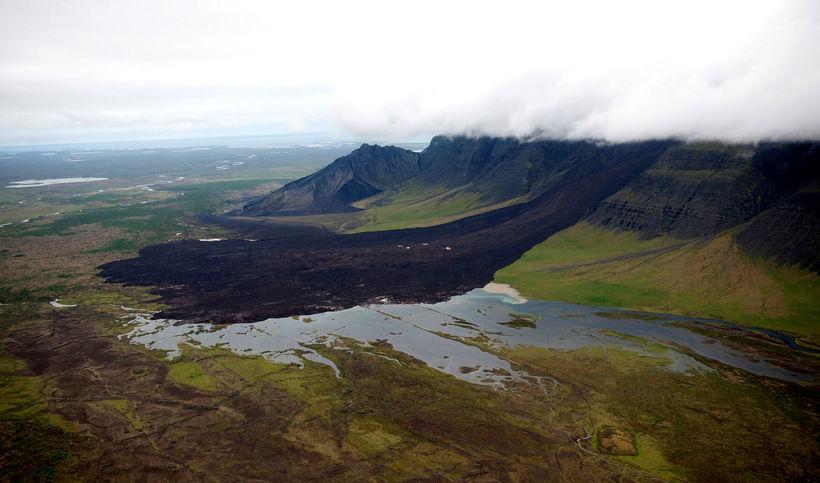 Skriðan er ein sú stærsta á sögulegum tíma á Íslandi.