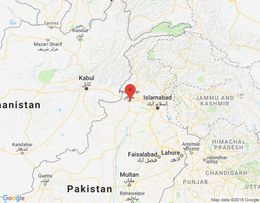 Peshawar er í norðvesturhluta Pakistan.