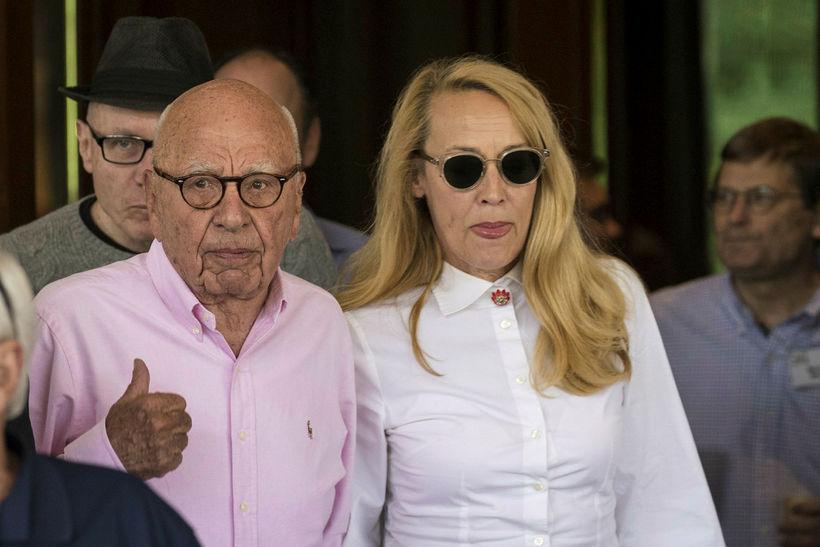 Rupert Murdoch, stjórnarformaður News Corp og 21st Century Fox, og ...
