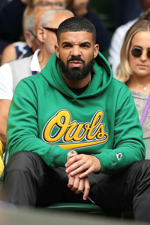Drake á vellinum í gær.