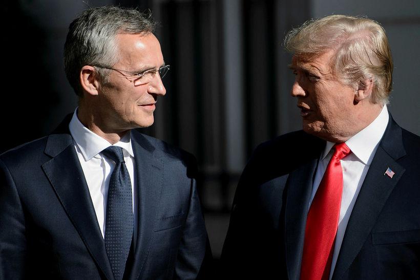 Jens Stoltenberg, framkvæmdastjóri NATO, og Donald Trump.
