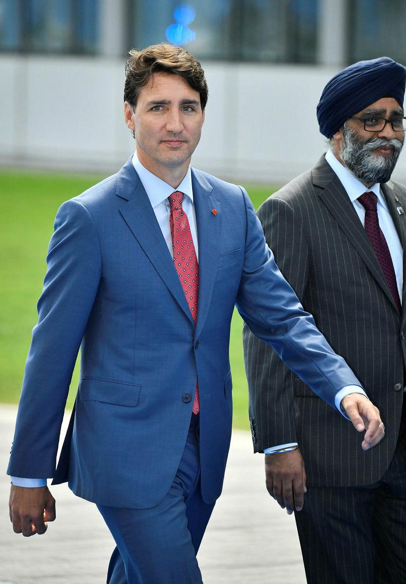 Justin Trudeau, forsætisráðherra og Harjit Singh Sajjan varnarmálaráðherra Kanada.