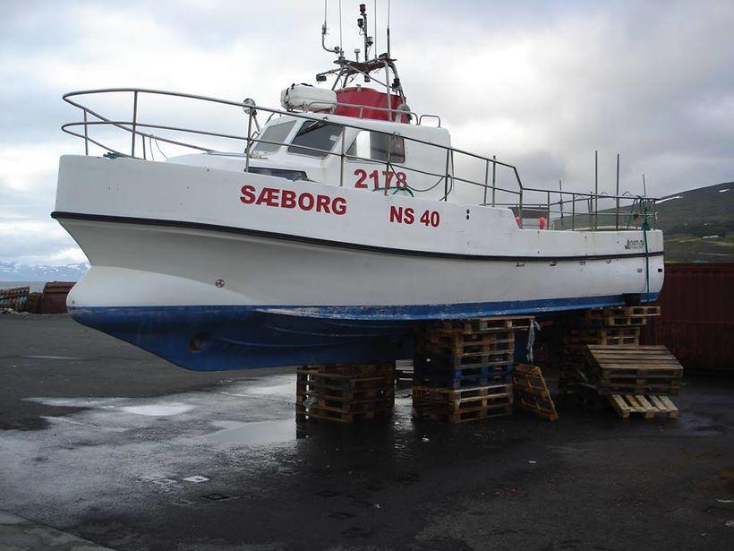 Sæborg NS, báturinn sem sökk á Héraðsflóa í gær.