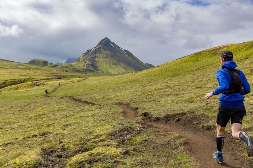 Hlaupið er frá Landamannalaugum í Þórsmörk.