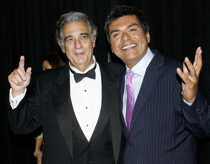 George Lopez (t.h.) ber ekki mikla virðingu fyrir forsetanum.