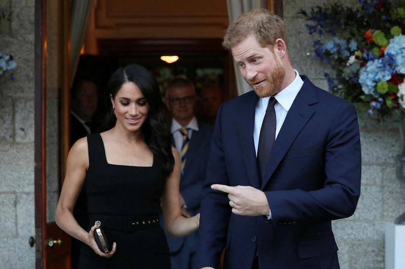 Meghan og Harry fóru í sína fyrstu opinberu heimsókn til ...