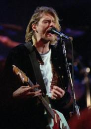 Kurt Cobain, söngvari Nirvana.