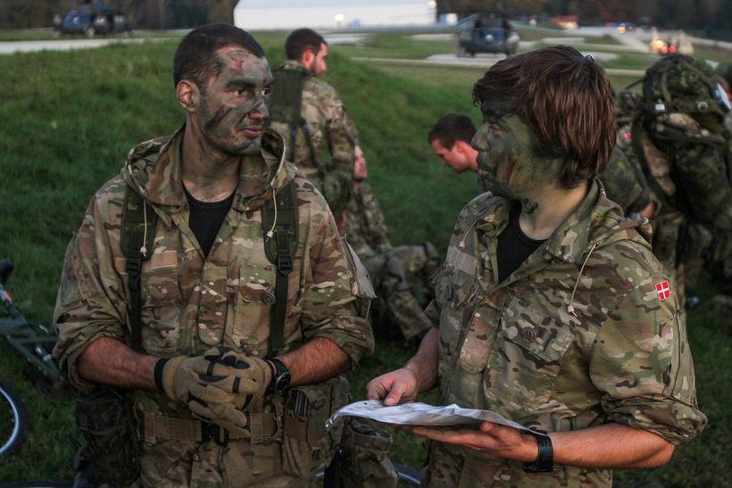 Danskir hermenn á NATO-æfingu árið 2014. Aldrei hafa fleiri ungir ...
