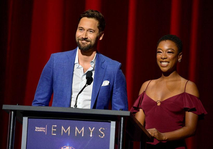 Leikararnir Ryan Eggold og Samira Wiley kynntu tilnefningar til Emmy-verðlaunanna ...