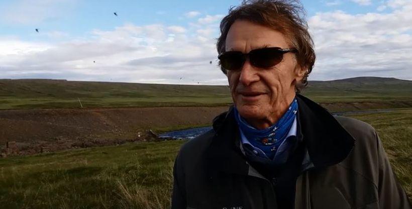 Bretinn James Ratcliffe að veiðum á Íslandi.