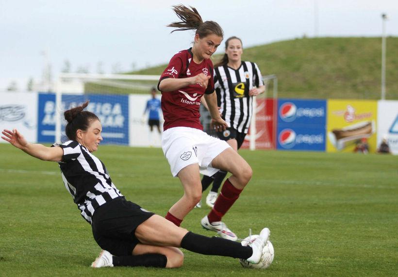 Magdalena Anna Reimus skoraði sigurmarkið fyrir Selfoss í kvöld.