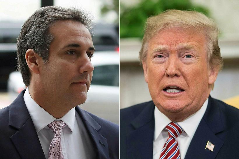 Michael Cohen og Donald Trump.