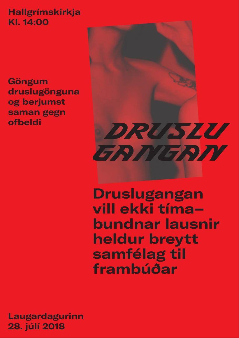 Skilaboð Druslugöngunnar.