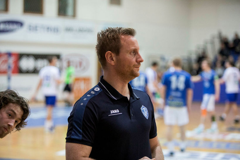 Bjarni Fritzson þjálfari U20 ára landsliðsins.