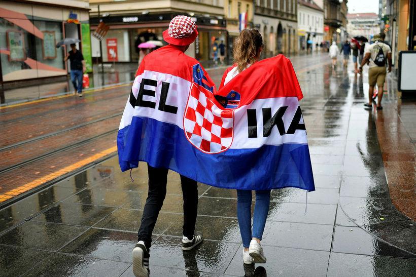 Það rigndi í Zagreb í dag.