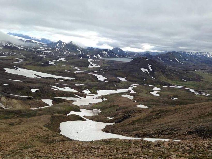 Laugavegsgönguleiðin er um margt fræg fyrir einstakt landslag.