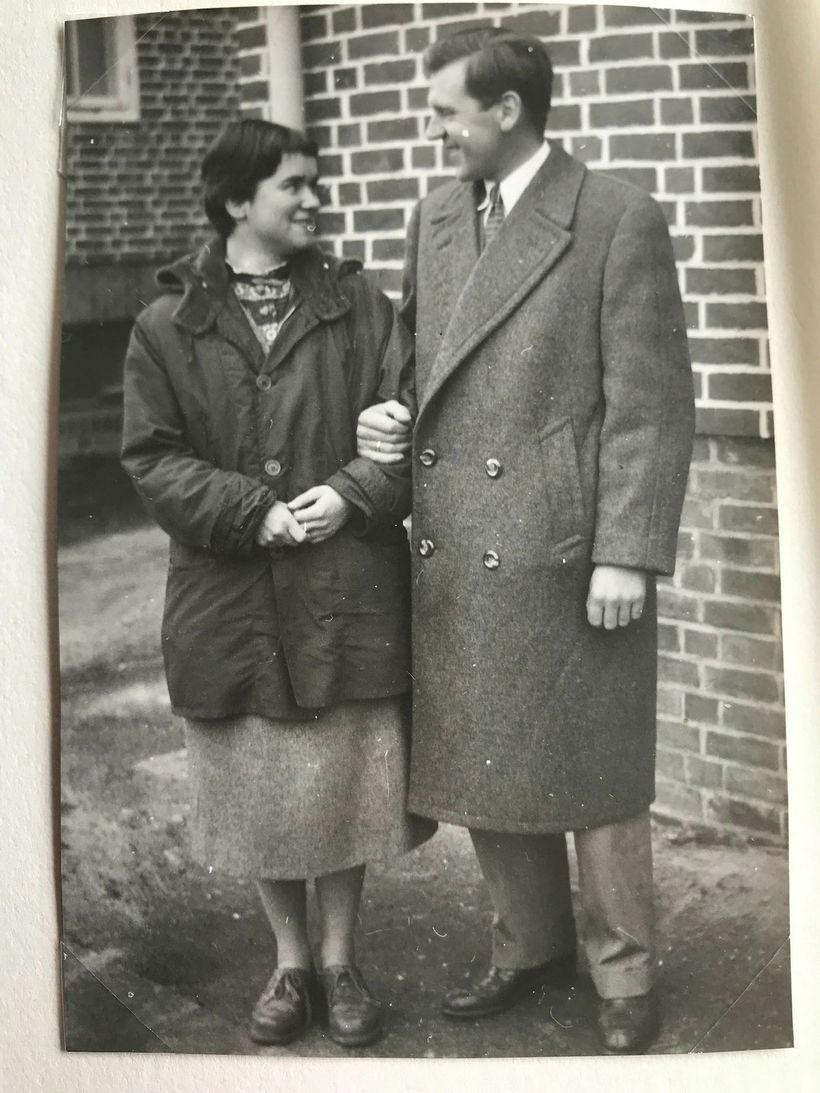 Gunnlaugur og Jarmila giftu sig í Þýskalandi 22. desember 1955.