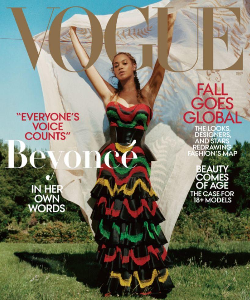 Beyoncé prýðir forsíðu bandaríska Vogue í september.
