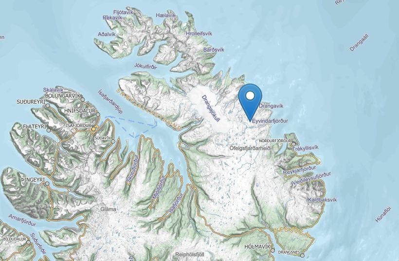 Fólkið komst ekki leiðar sinnar yfir Meyjará á Ströndum og ...
