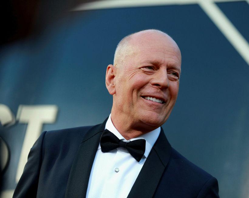 Bruce Willis var í stuði um helgina.