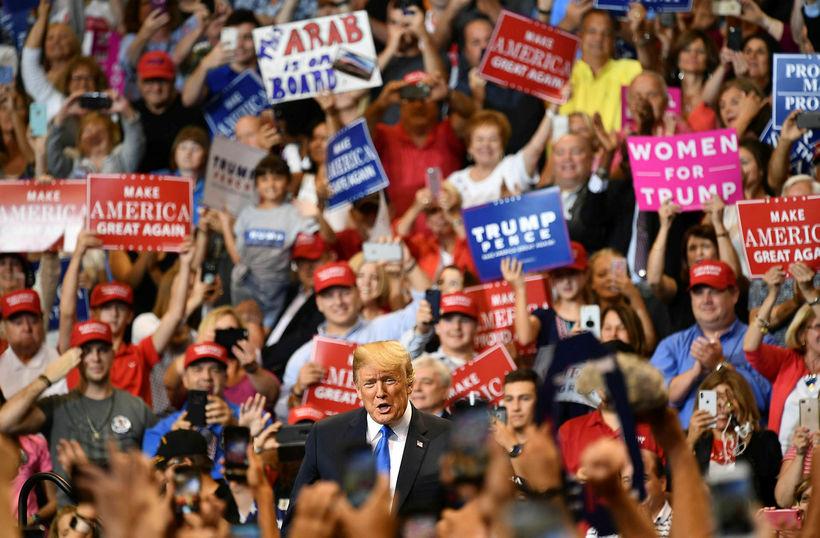 Stuðningsmenn Donalds Trumps eru ekki hrifnir af frambjóðendum repúblikana.