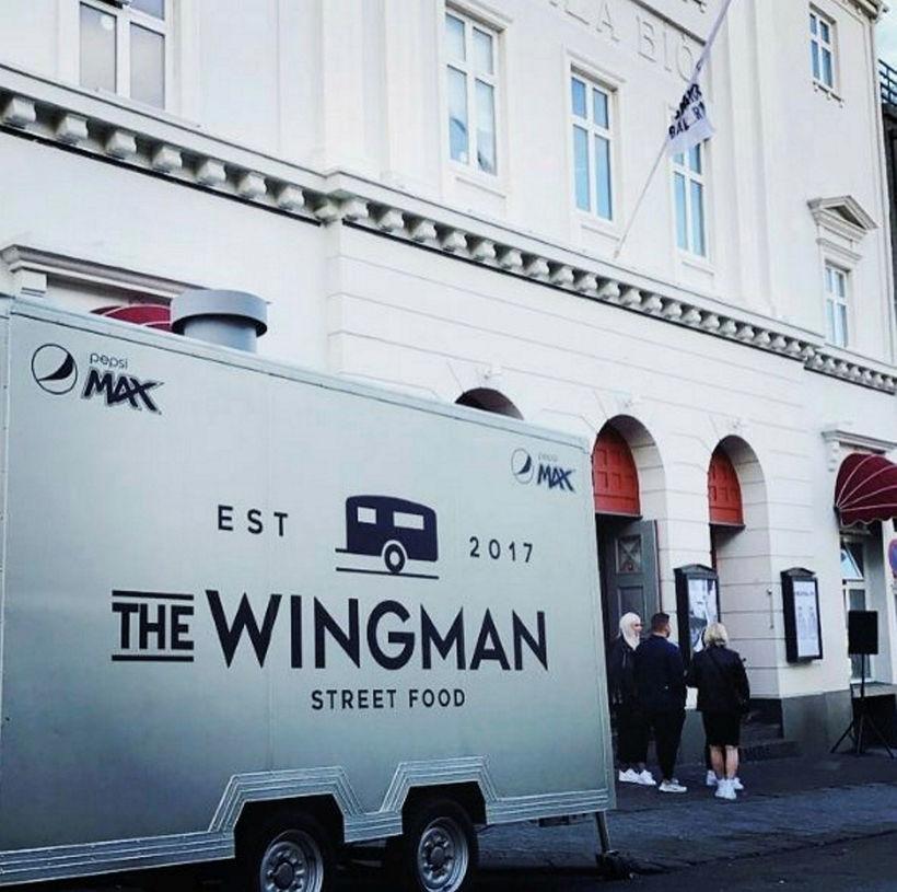 Matarvagninn The Wingman selur kjúklingavængi og franskar.