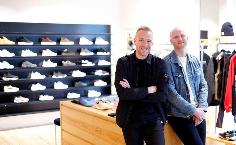 Sindri Snær Jensson, t.v., og Jón Davíð Davíðsson eru eigendur …