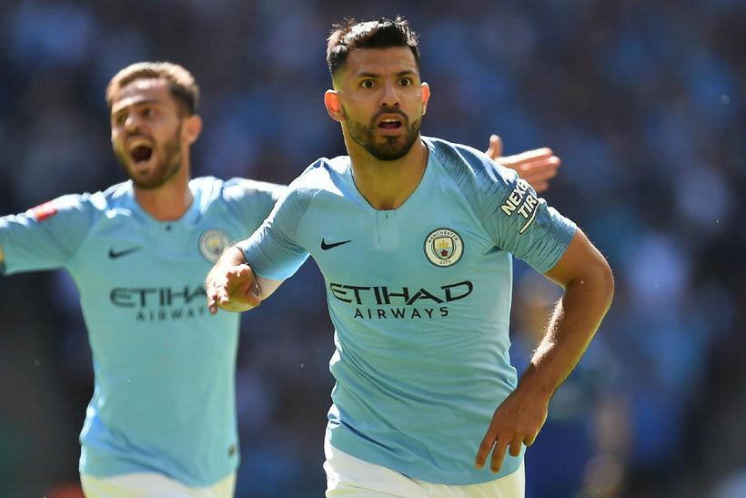 Sergio Agüero og liðsfélagar hans í Manchester City eru ríkjandi ...