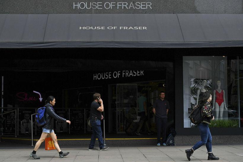 Verslun House of Fraser á Oxford Street í Lundúnum.