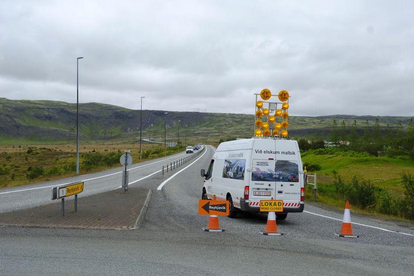 Fólk þarf að fara Þrengslin til að komast til Reykjavíkur.