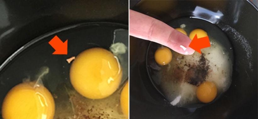 Einfalt trix til að ná upp eggjaskurn er að bleyta ...
