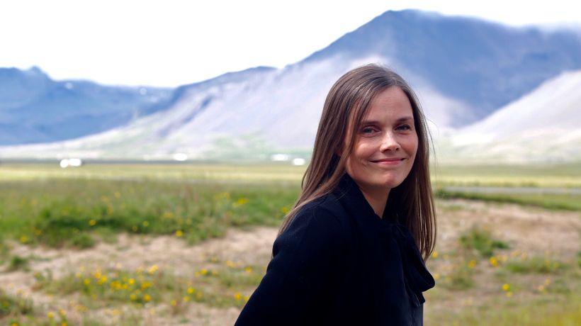 Katrín Jakobsdóttir á ríkisstjórnarfundi á Snæfellsnesi í dag.